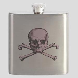 Pink Skull and Crossed Bones Flask