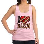 I Love Bacon Racerback Tank Top