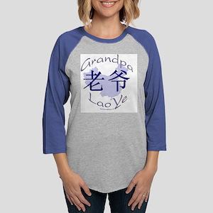 2GrandPaLaoYMat_8x8 Womens Baseball Tee