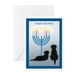 Hanukkah Black Lab Dogs Holiday Cards (10)