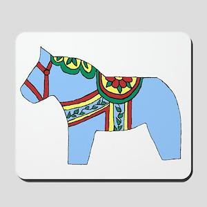 Blue Dala Horse Mousepad