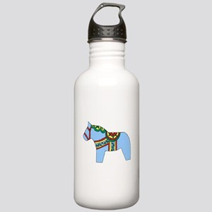 Blue Dala Horse Stainless Water Bottle 1.0L