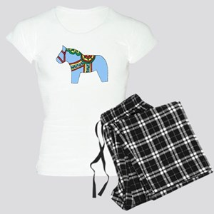 Blue Dala Horse Women's Light Pajamas