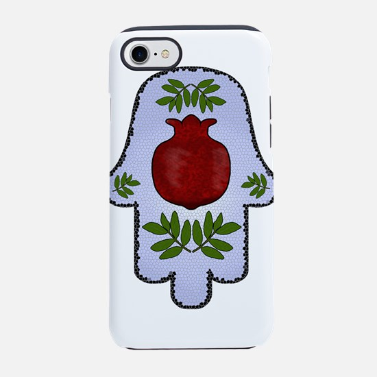 Hamsa Pomegranate Blue iPhone 7 Tough Case