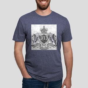 313- LION CREST Mens Tri-blend T-Shirt