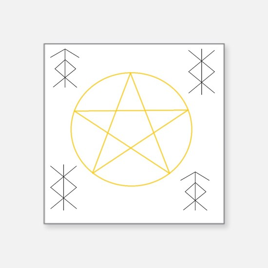 """Strong Pagan Protection Square Sticker 3"""" x 3"""