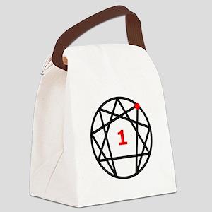Enneagram 1 White Canvas Lunch Bag