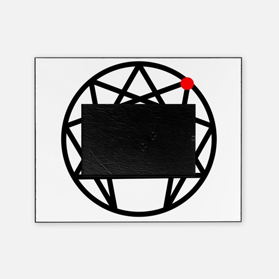 Enneagram 1 White.png Picture Frame