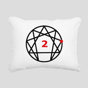 Enneagram 2 White Rectangular Canvas Pillow