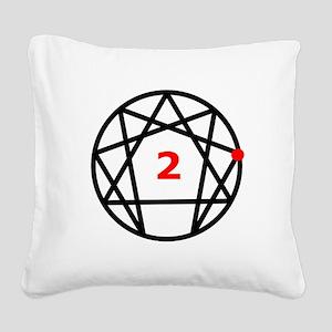 Enneagram 2 White Square Canvas Pillow