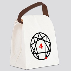 Enneagram 4 White Canvas Lunch Bag