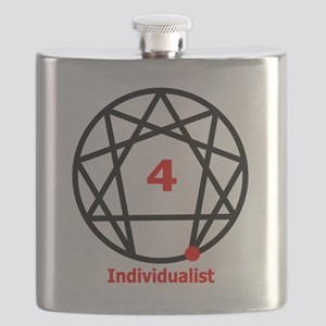 Enneagram 4 w text White Flask