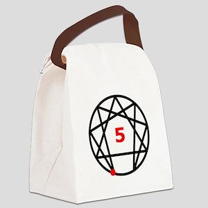 Enneagram 5 White Canvas Lunch Bag