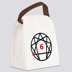 Enneagram 6 White Canvas Lunch Bag