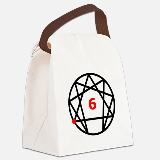 Enneagram 6 White.png Canvas Lunch Bag