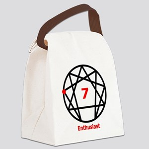 Enneagram 7 w text White Canvas Lunch Bag