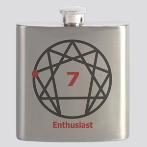 Enneagram 7 w text White Flask