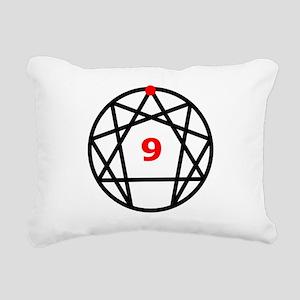 Enneagram 9 White Rectangular Canvas Pillow