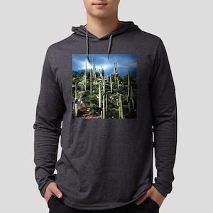Many Saguaro In Az Large Clock Mens Hooded Shirt