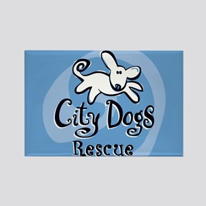 City Dogs Rescue Rectangle Magnet