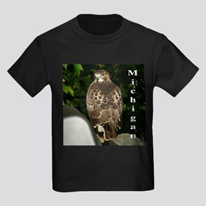 Red-tailed Hawk Kids Dark T-Shirt