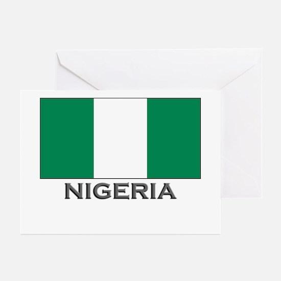 Nigeria Flag Stuff Greeting Cards (Pk of 10)