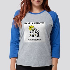 Haunted House Womens Baseball Tee