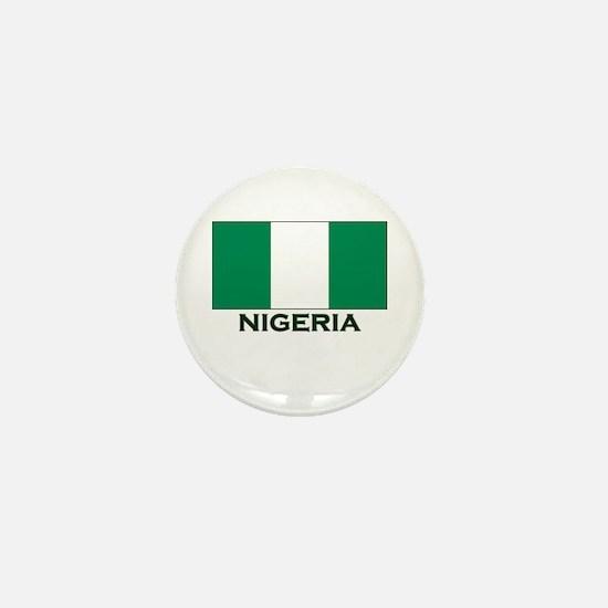 Nigeria Flag Gear Mini Button