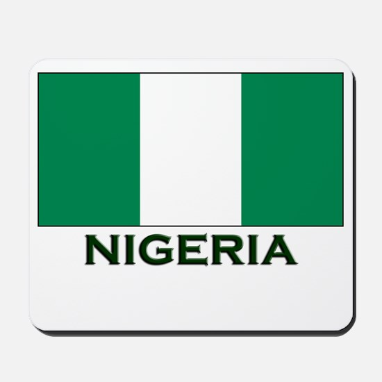 Nigeria Flag Gear Mousepad
