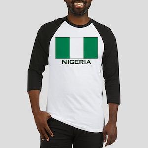 Nigeria Flag Gear Baseball Jersey