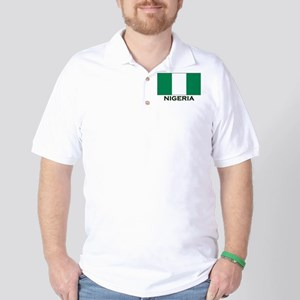 Nigeria Flag Gear Golf Shirt