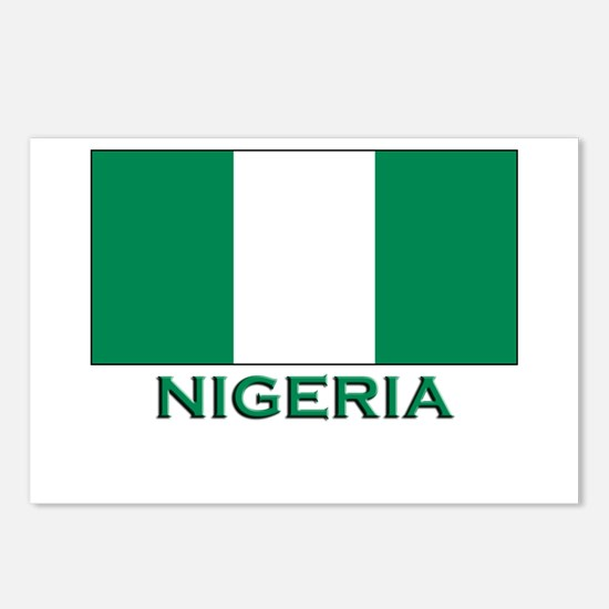 Nigeria Flag Merchandise Postcards (Package of 8)