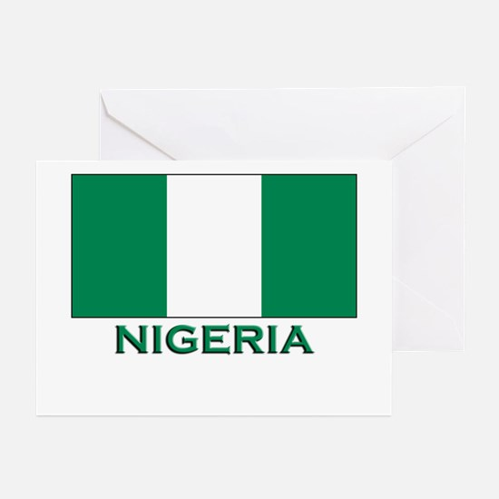 Nigeria Flag Merchandise Greeting Cards (Package o