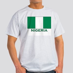 Nigeria Flag Merchandise Ash Grey T-Shirt