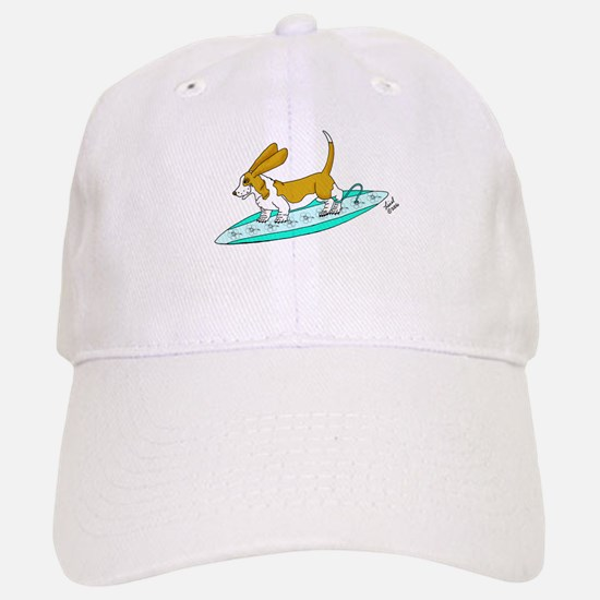 Surfing Basset Baseball Baseball Cap