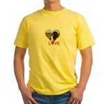 Love Hearts Yellow T-Shirt