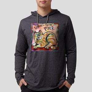 purrcat Mens Hooded Shirt