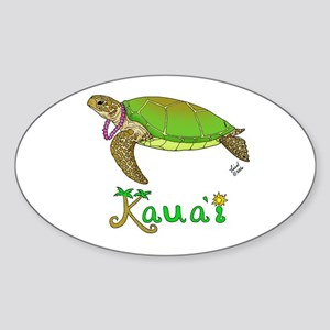 Kauai Oval Sticker