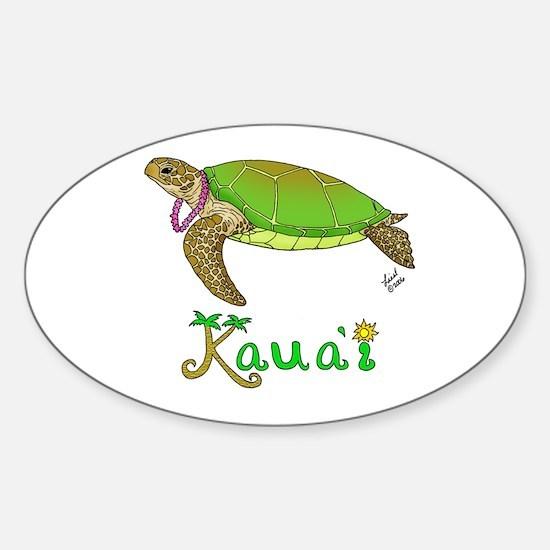 Kauai Oval Decal