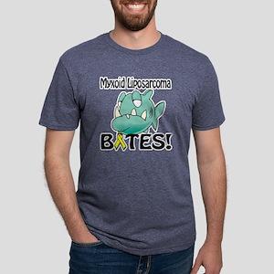 Myxoid Liposarcoma BITES.pn Mens Tri-blend T-Shirt