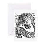 Whats up with the hand? Greeting Card