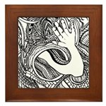 Whats up with the hand? Framed Tile
