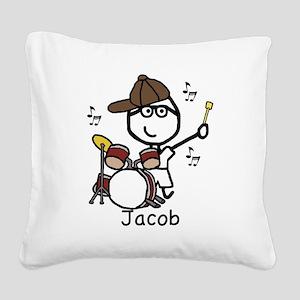 Drumset - Jacob Square Canvas Pillow
