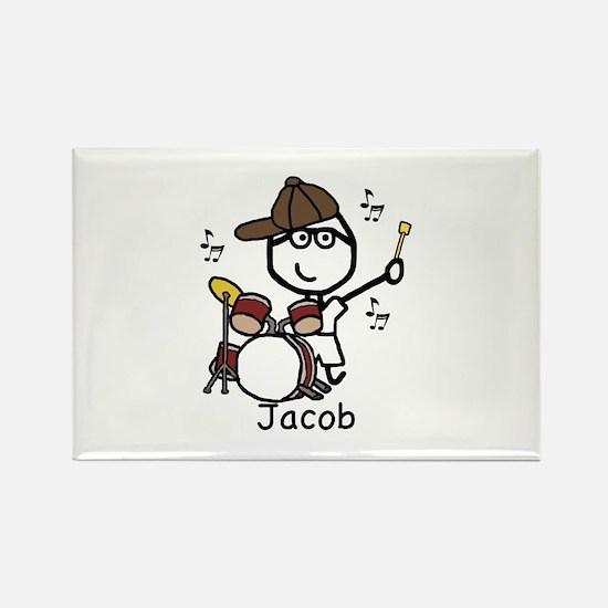 Drumset - Jacob Rectangle Magnet