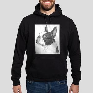 Boston Terrier Hoodie (dark)