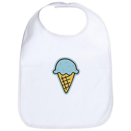 Cute Blue Ice Cream Cone Bib