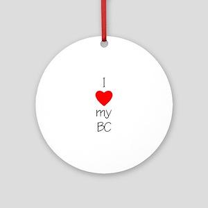 I Love My BC Ornament (Round)