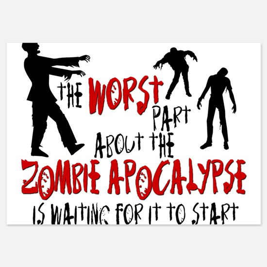 Zombie Apocalypse Waiting 5x7 Flat Cards