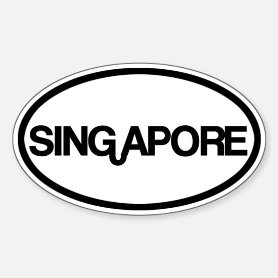 Singapore Sticker (Oval)