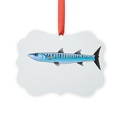 Pacific Barracuda fish Ornament